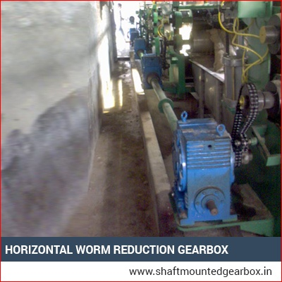Horizontal Worm Reduction Gearbox Supplier India