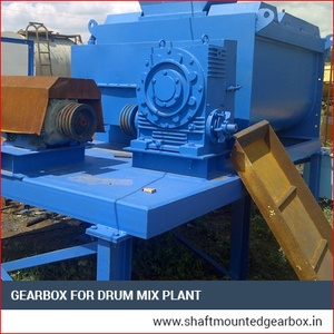 Gear box drum mix plant