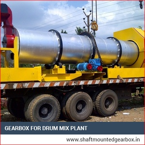 Gearbox for drum mix plant