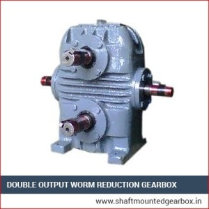 Double Output Worm Reduction Gearbox manufacturer and supplier in ahmedabad gujarat