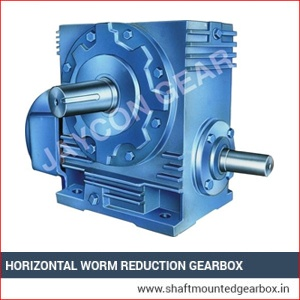 Horizontal wprm reduction gearbox exporter manufacturer and supplier in gujarat india