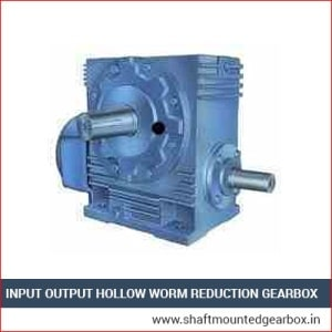 input output hollow worm reduction gearbox manufacturer and supplier in gujarat india
