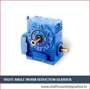 right angle worm reduction gearbox manufacturer and supplier in gujarat india